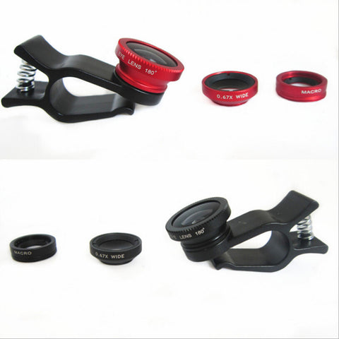 3 In 1 Universal Mobile Phone FishEye Lens
