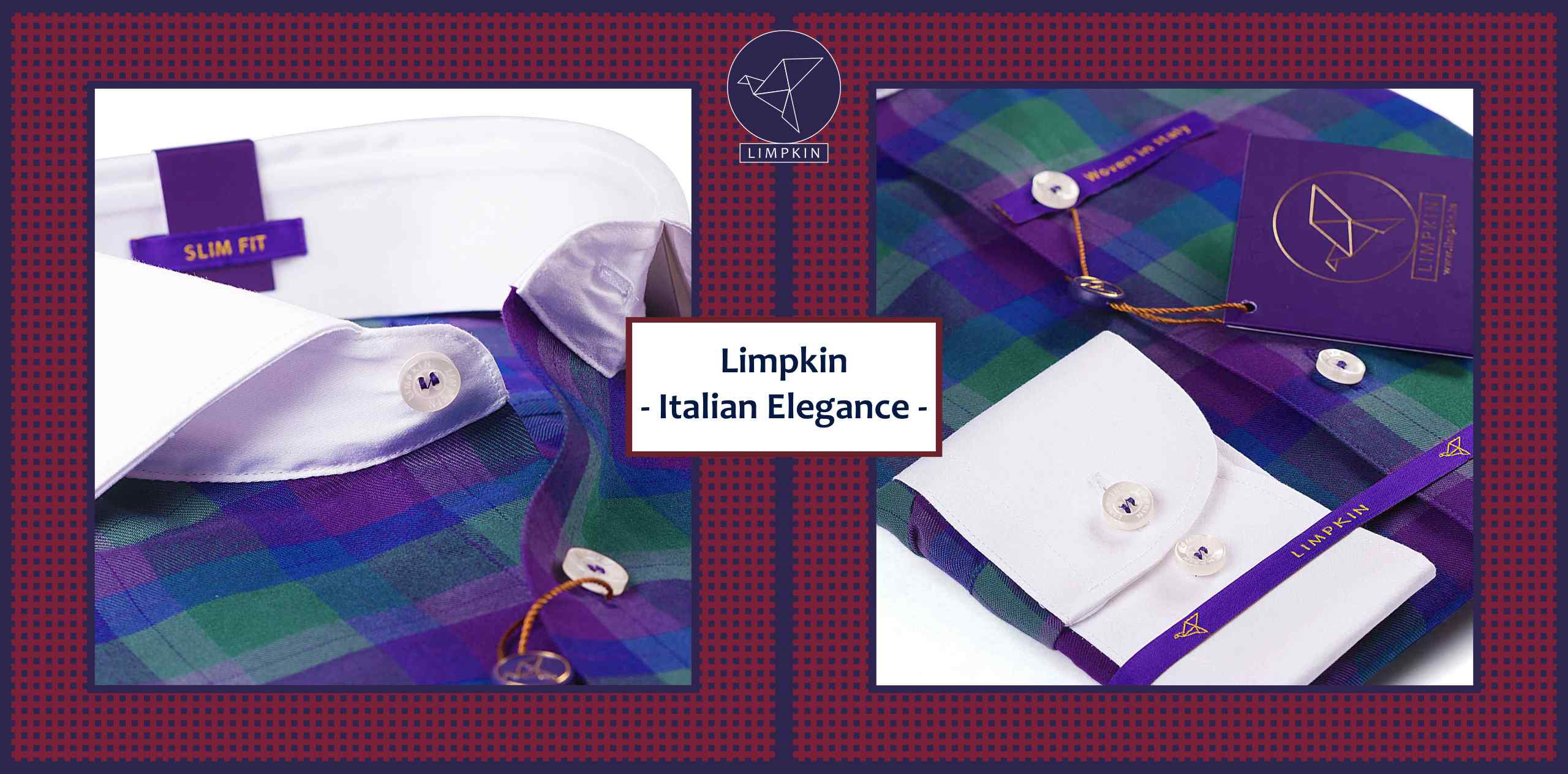BALTIMORE- PURPLE & GREEN CHECK & WHITE COLLAR- Delivery from 17th July - Banner