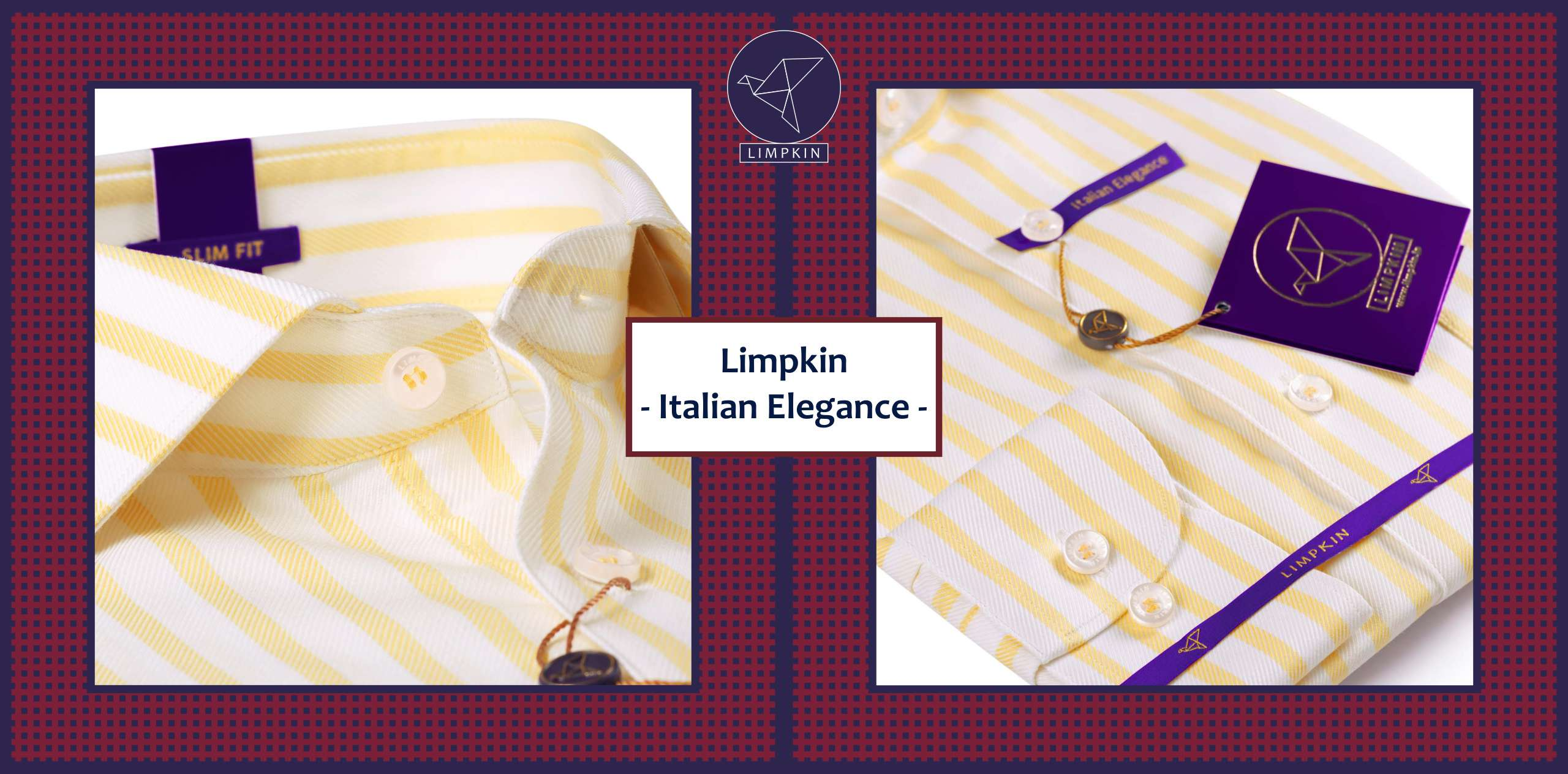 Hempstead- Daffodil Yellow & White Magical Stripe- 2/120 Egyptian Giza Cotton- Delivery from 7th August - Banner