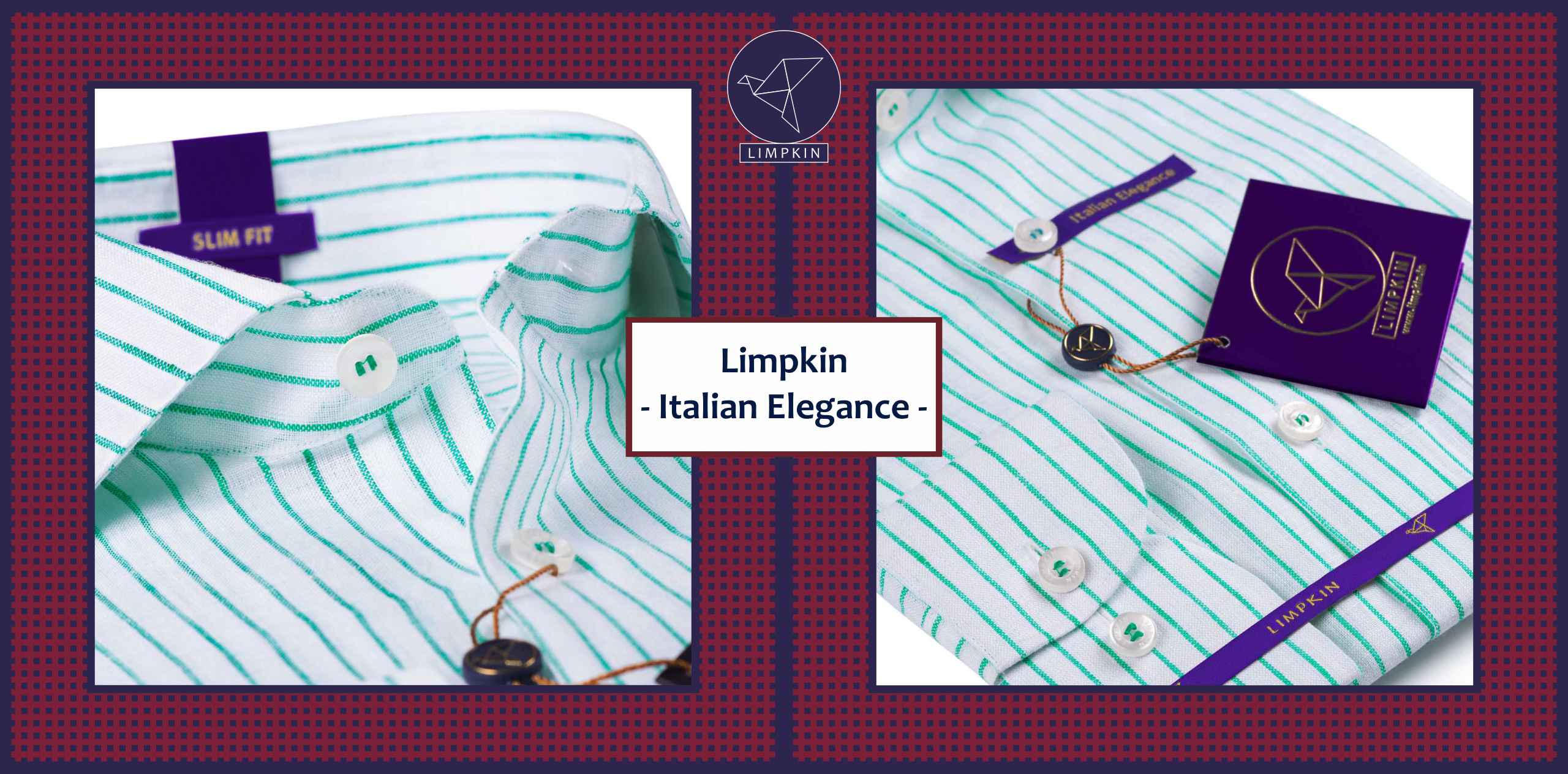 Fremont- Emerald Green & White Magical Stripe- 66's Lea Pure Linen- Delivery from 5th April - Banner