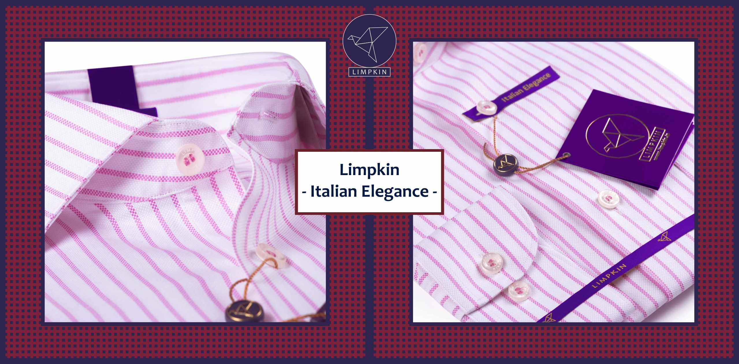 Torrance- Taffy Pink & White Magical Stripe- 2/120 Egyptian Giza Cotton- Delivery from 14th Oct - Banner
