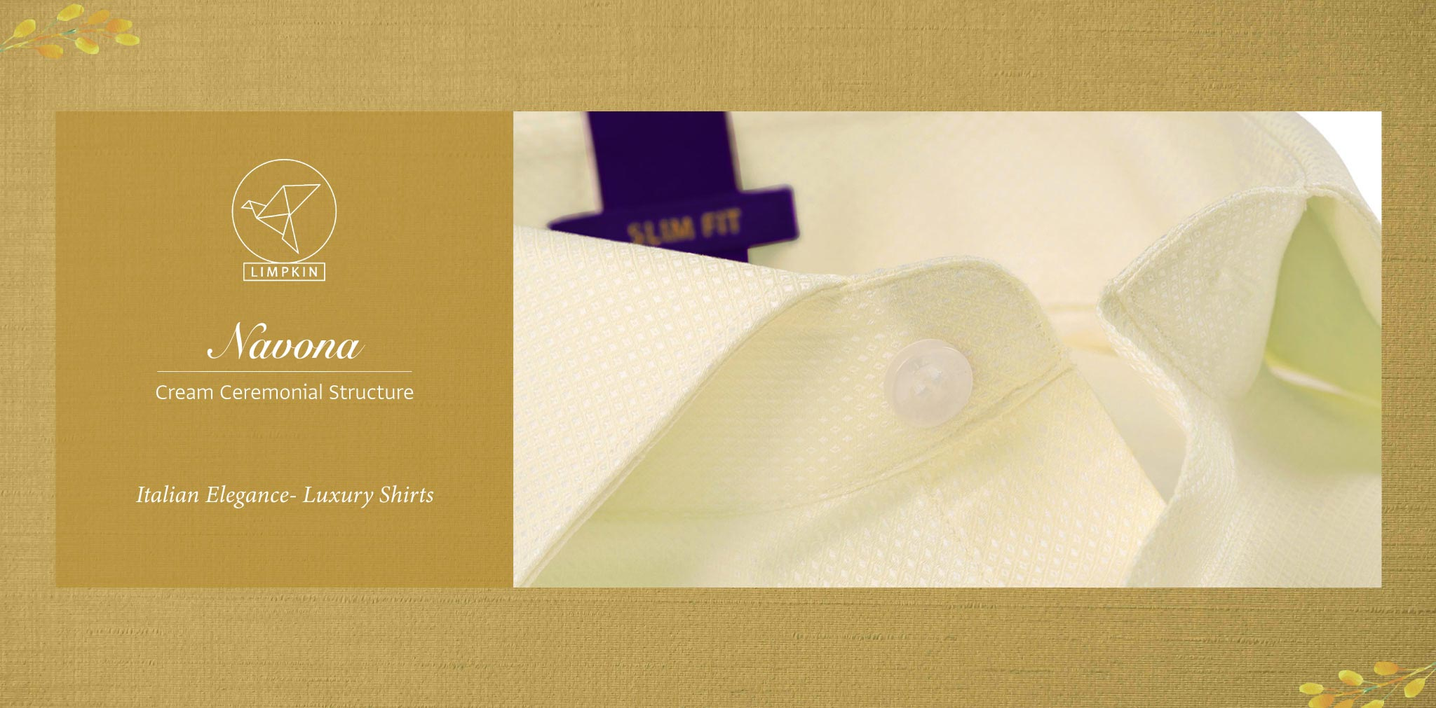 Navona- Cream Ceremonial Structure- 2 Ply Pure Egyptian Giza Cotton- Delivery from 20th Oct - Banner
