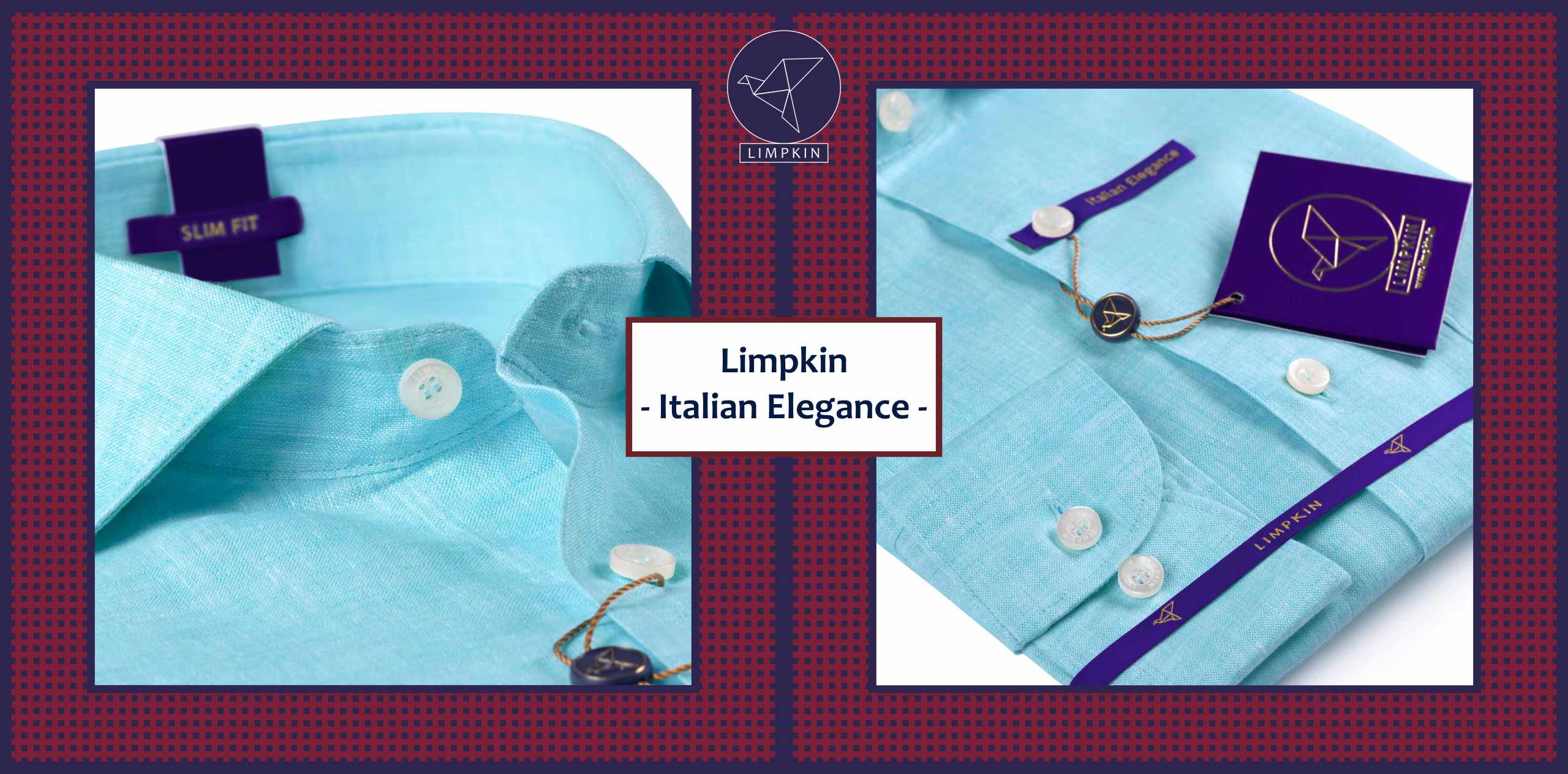Macedonia- Turquoise Blue Solid Linen- 66's Lea Pure Italian Linen- Delivery from 28th Sep - Banner