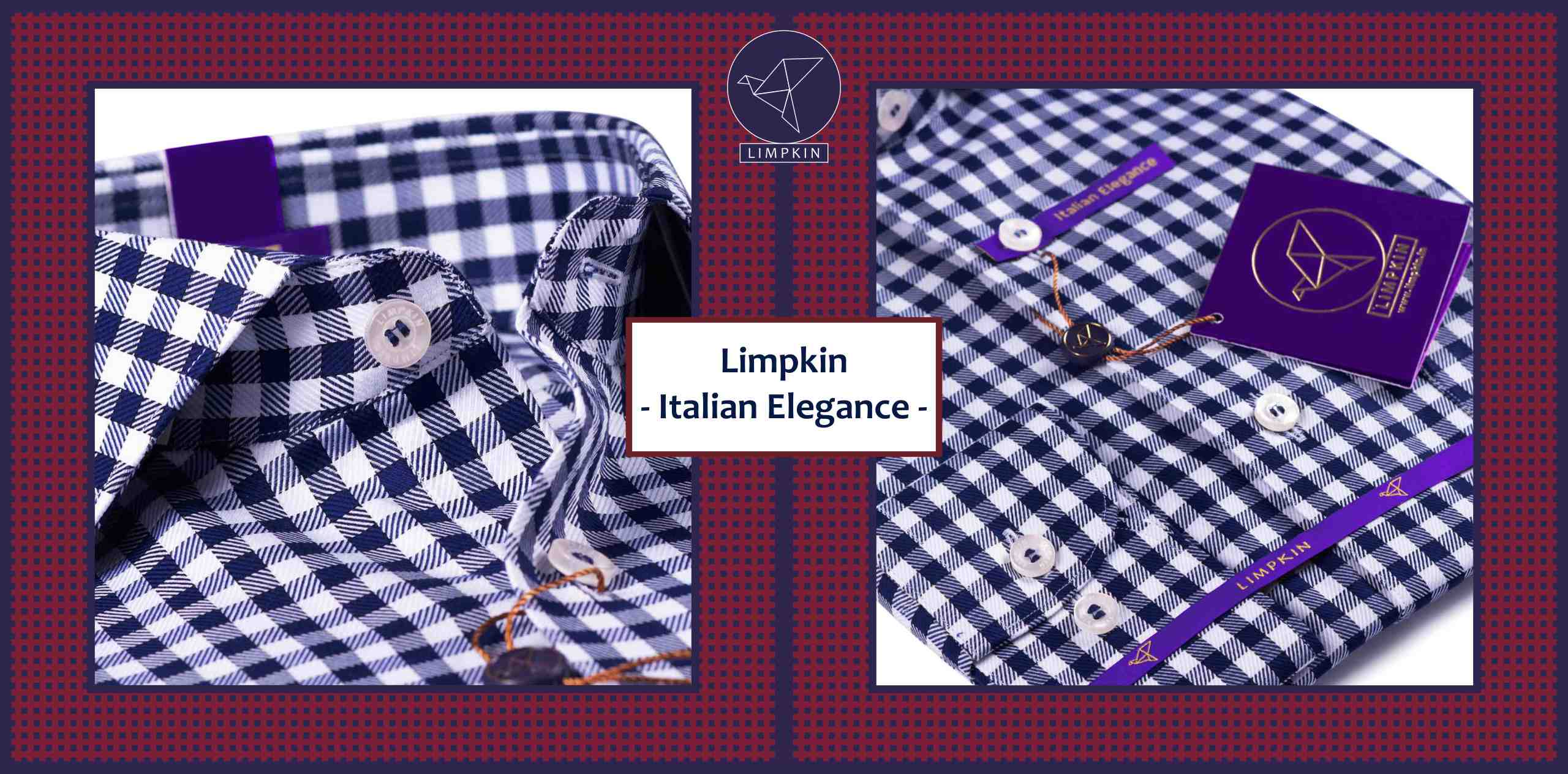 Columbus- Navy & White Magical Gingham Check- 2/140 Egyptian Giza Cotton- Delivery from 14th Oct - Banner