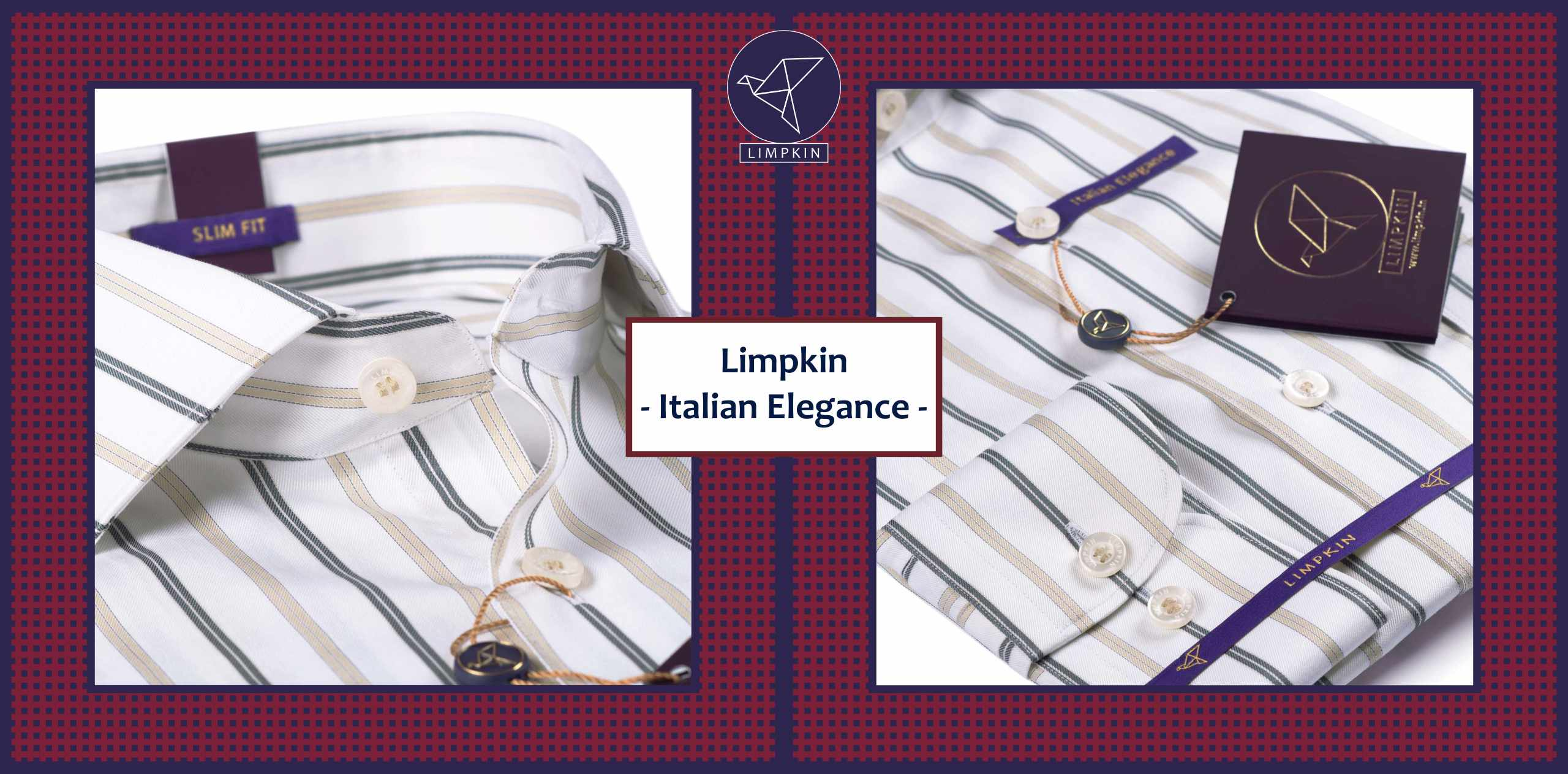 Cairoli- White & Beige Magical Stripe- 2/140 Egyptian Giza Cotton- Delivery from 20th Feb - Banner