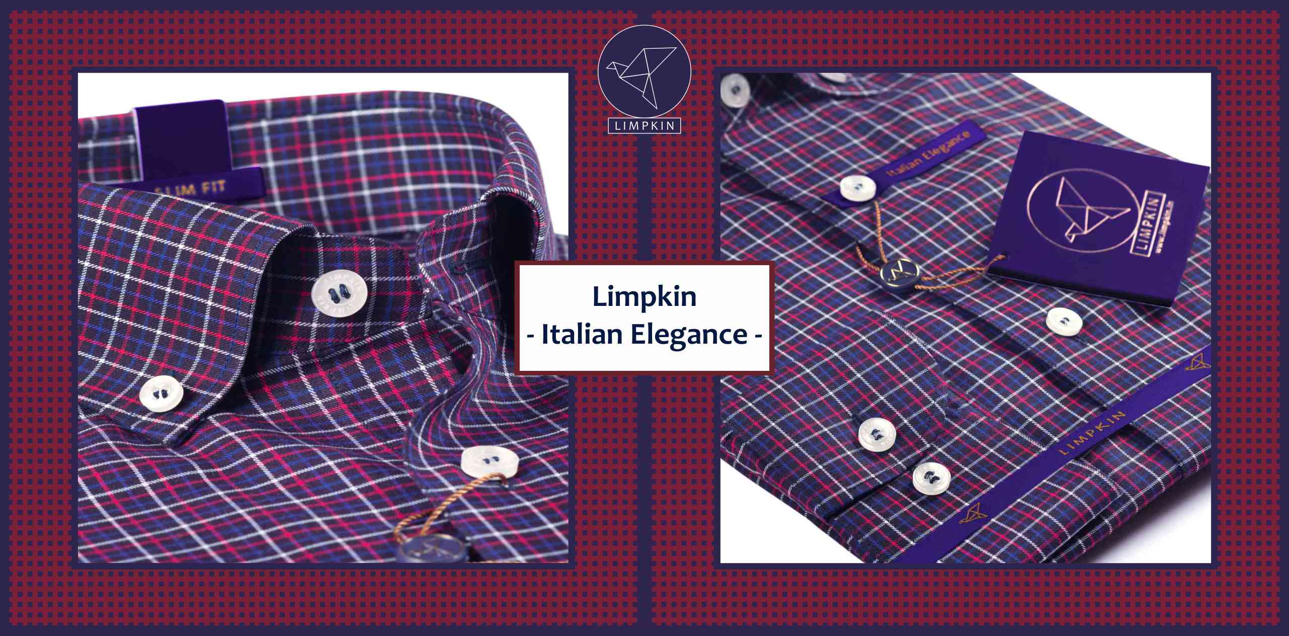 Minneapolis- Navy & Burgundy Magical Check- Button Down - Banner