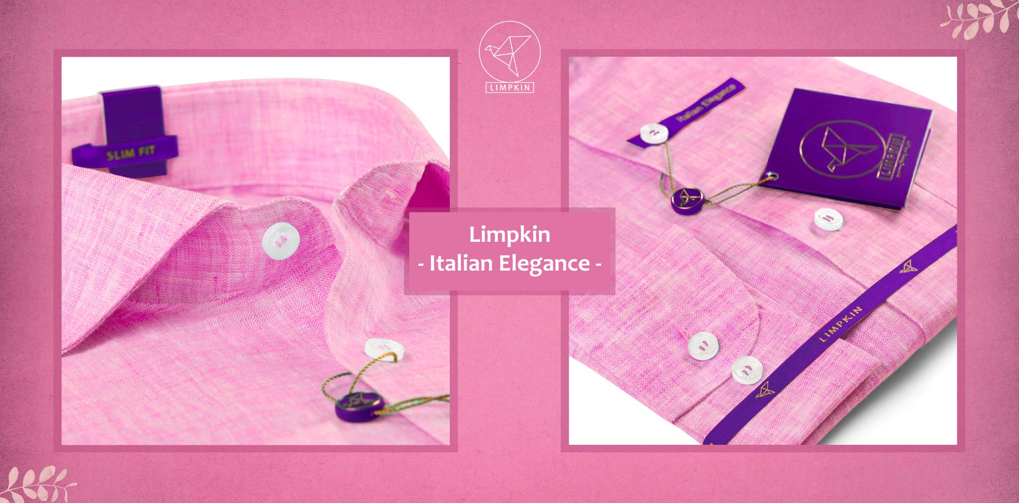 Madrid- Taffy Pink Solid Linen- 66's Lea Pure Italian Linen- Delivery from 4th August - Banner