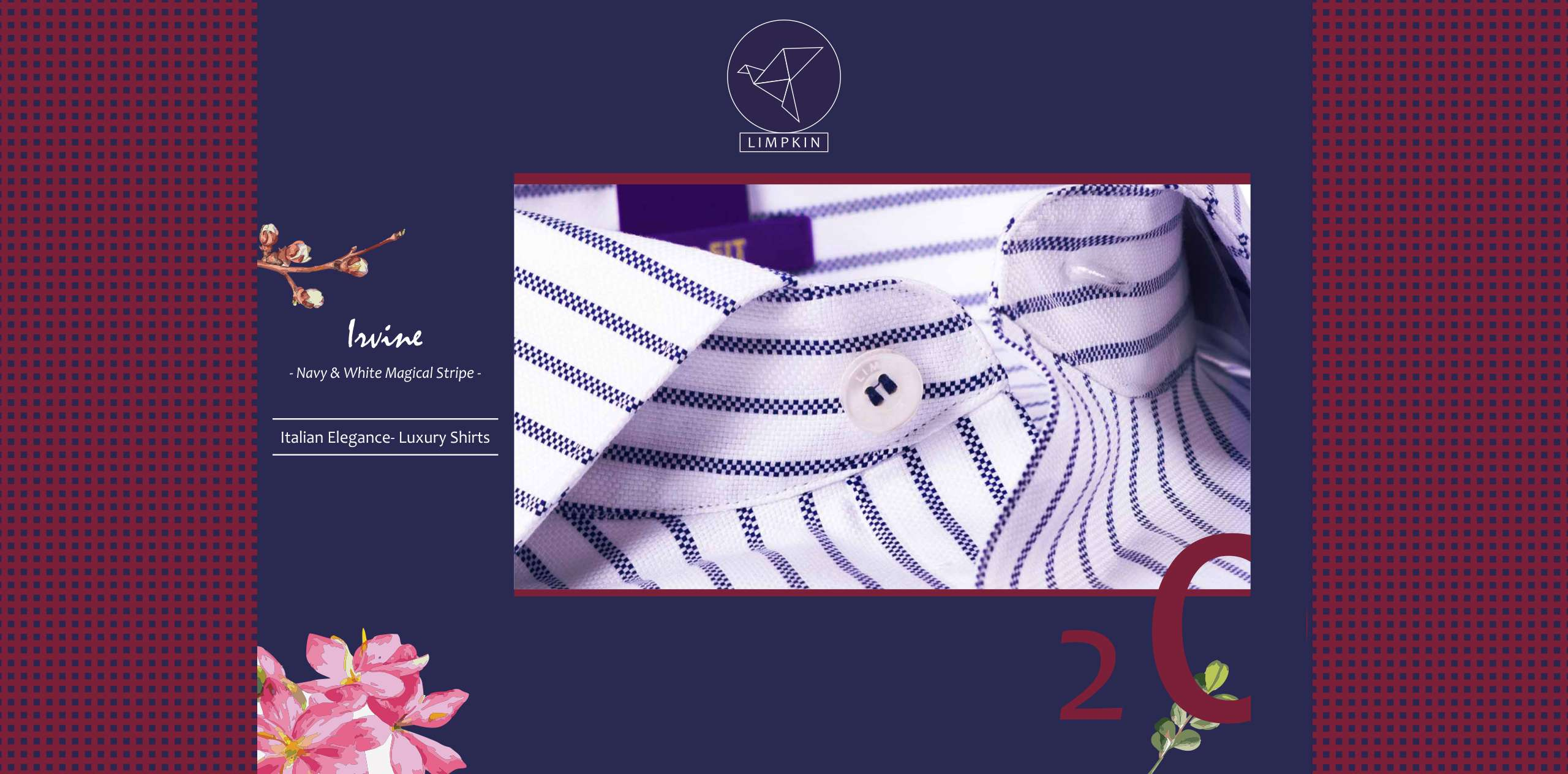 Irvine- Navy & White Magical Stripe- 2/120 Egyptian Giza Cotton- Delivery from 3rd July - Banner