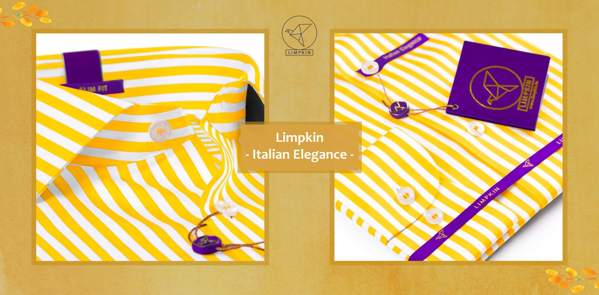Toulouse- Canary Yellow & White Stripe- 2 Ply Pure Egyptian Giza Cotton- Delivery from 26th Sept - Banner