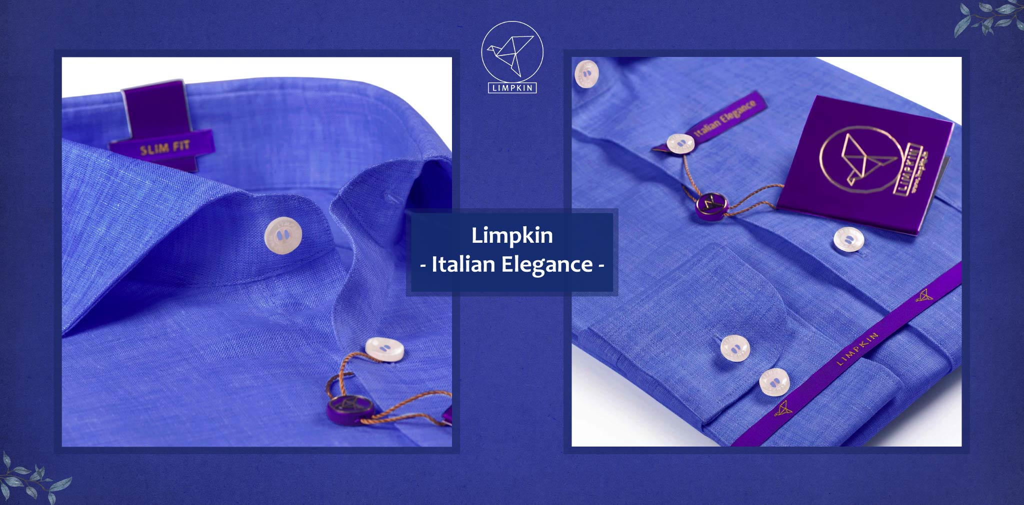 Norway- Azure Blue Solid Linen- 66's Lea Pure Italian Linen- Delivery from 26th Sept - Banner