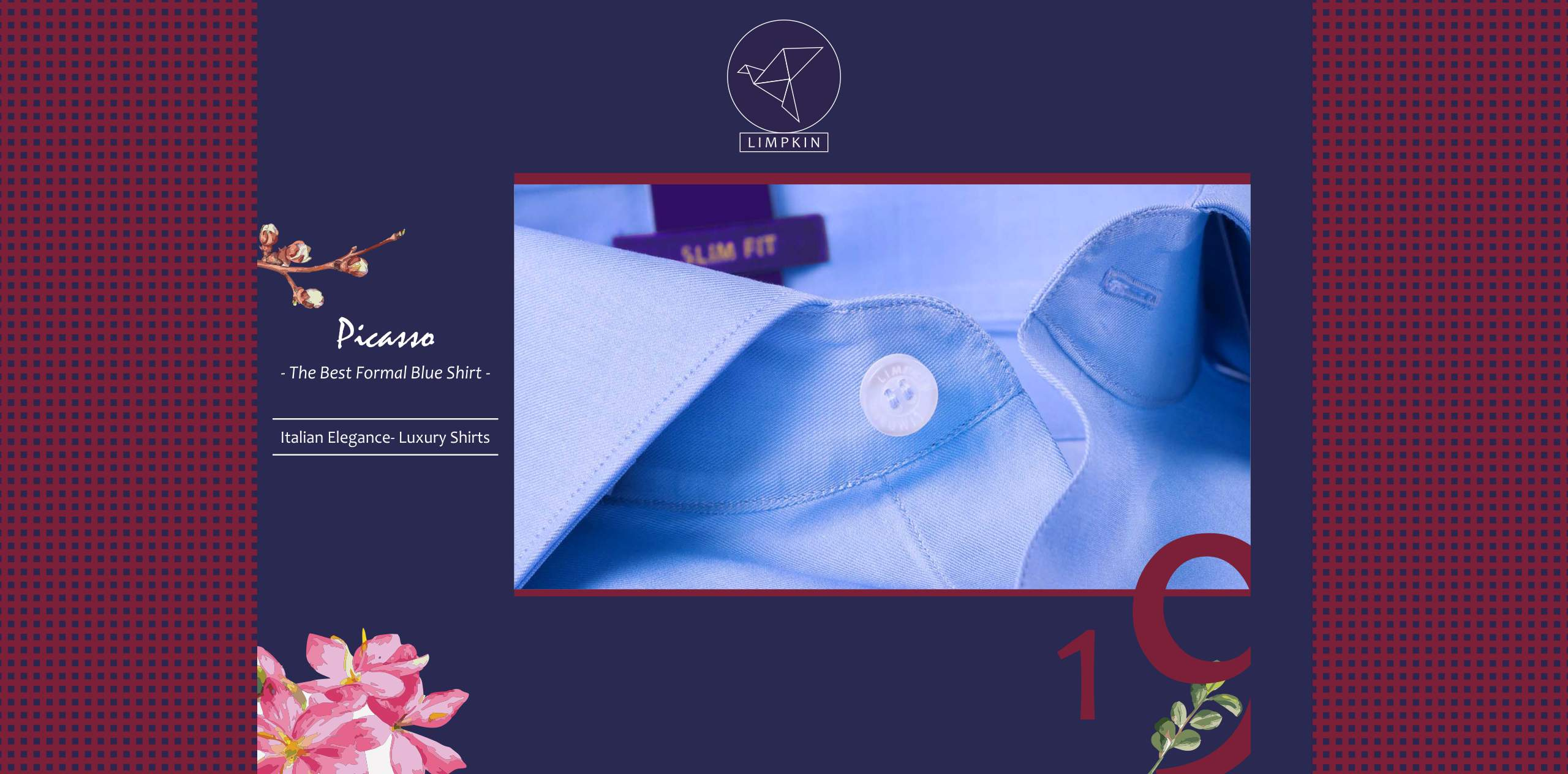 Picasso- Best Formal Blue- 2/140 Egyptian Giza Cotton- Delivery from 25th Nov - Banner