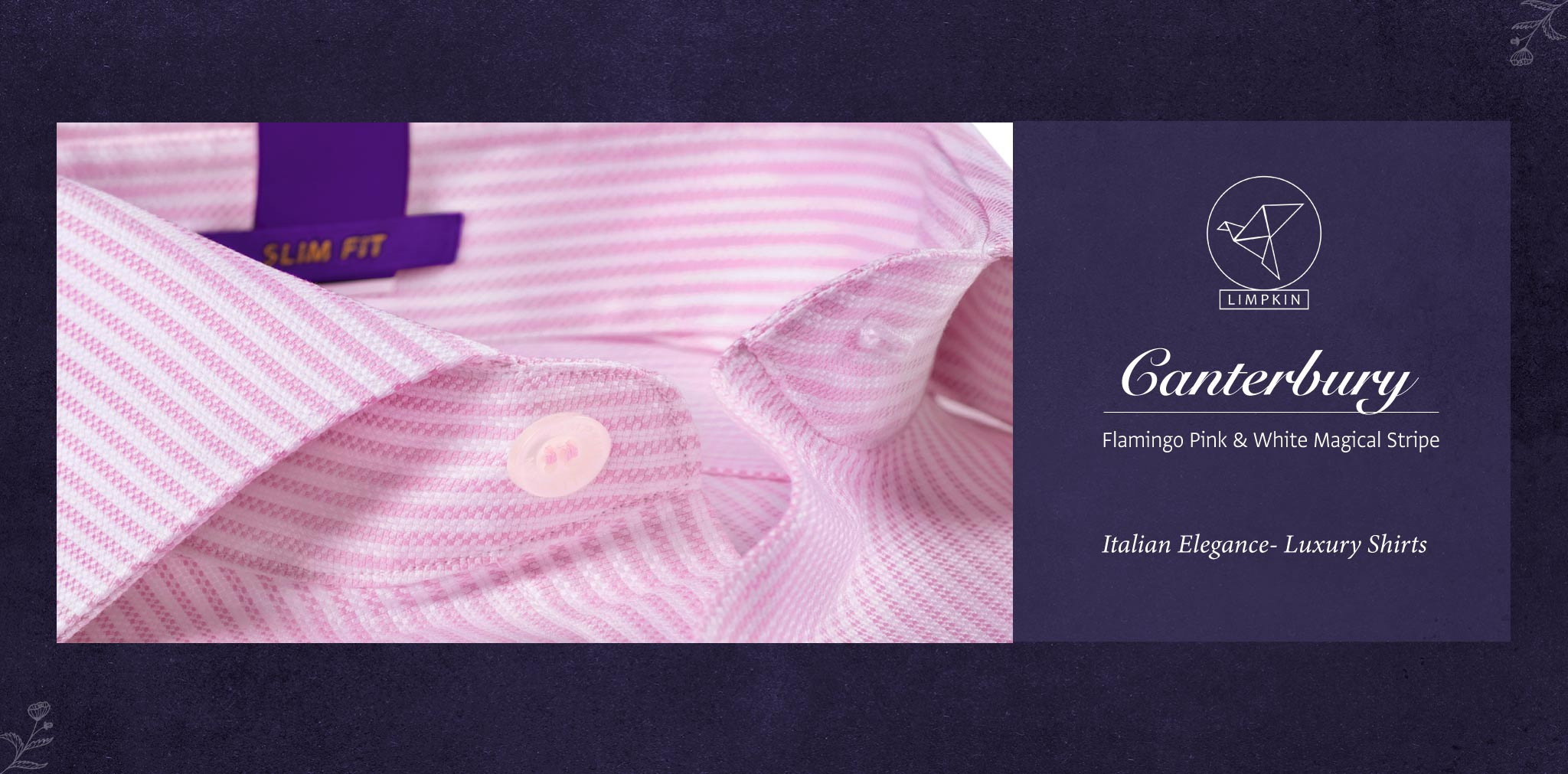 Canterbury- Flamingo Pink & White Stripe- 2 Ply Pure Egyptian Giza Cotton- Delivery from 20th Oct - Banner