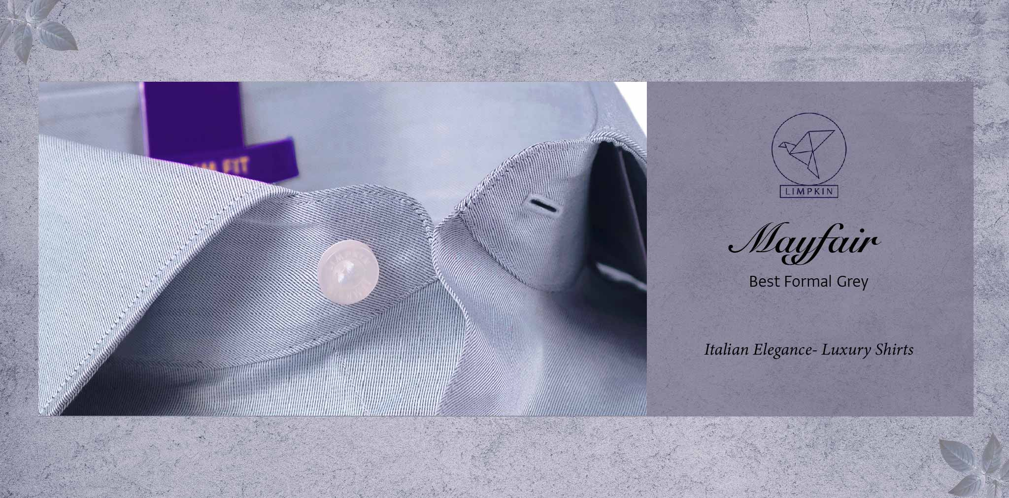 Mayfair- Best Formal Grey- 2/140 Egyptian Giza Cotton- Delivery from 26th Jan - Banner