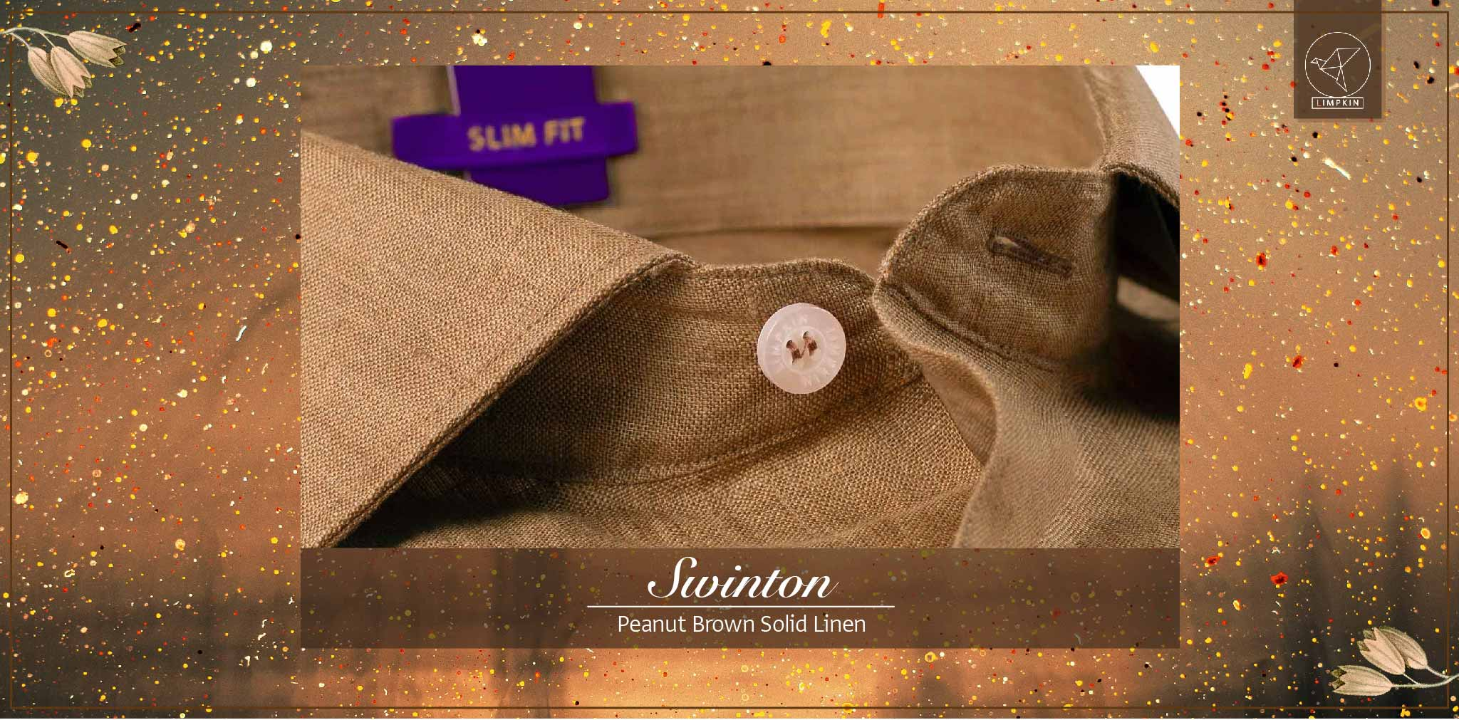 Swinton- Peanut Brown Solid Linen- 66's Lea Pure Luxury Linen- Delivery from 26th Jan - Banner
