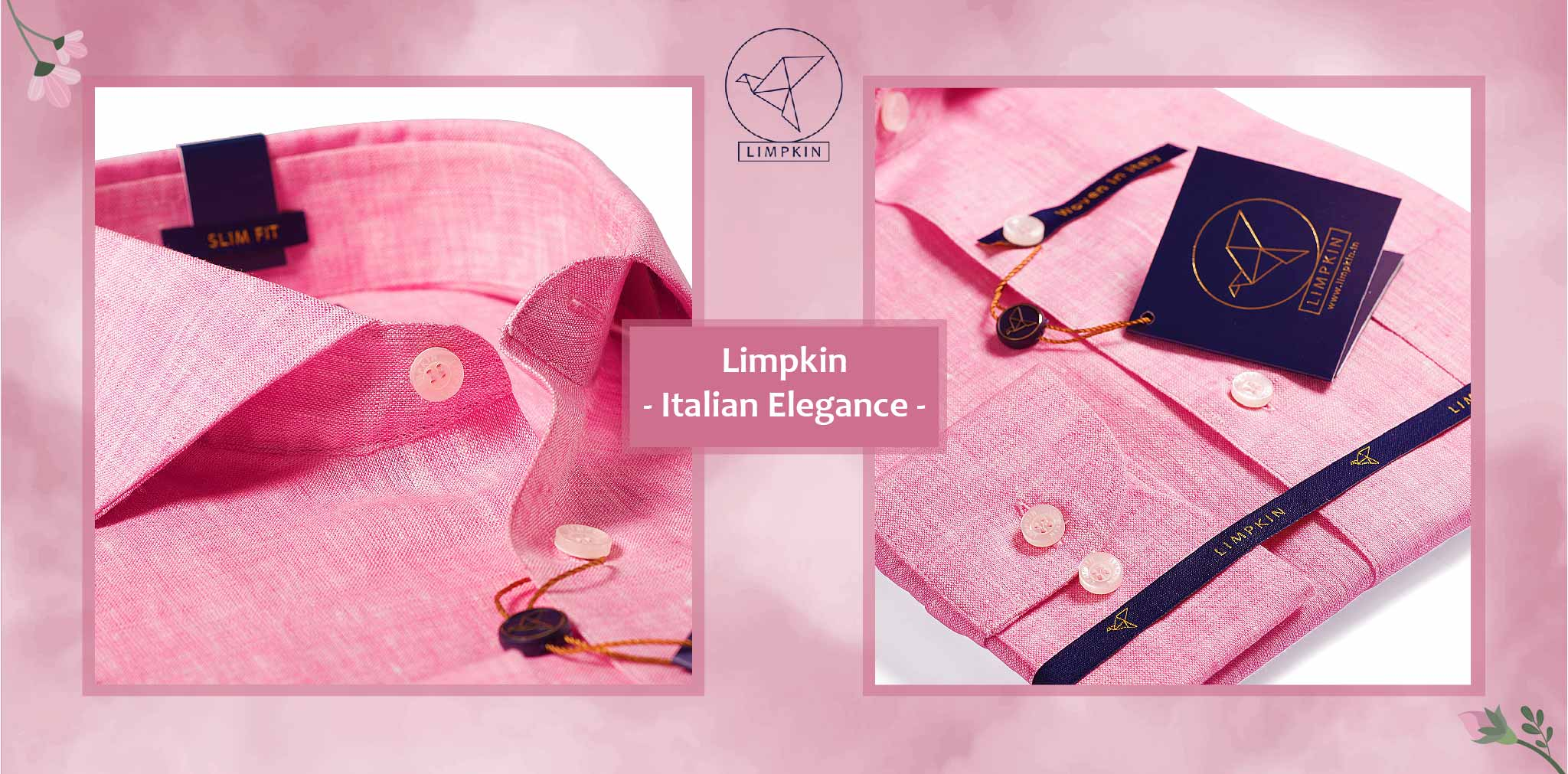 Dresden- Flamingo Pink Solid Linen- 66's Lea Pure Italian Linen- Delivery from 3rd March - Banner