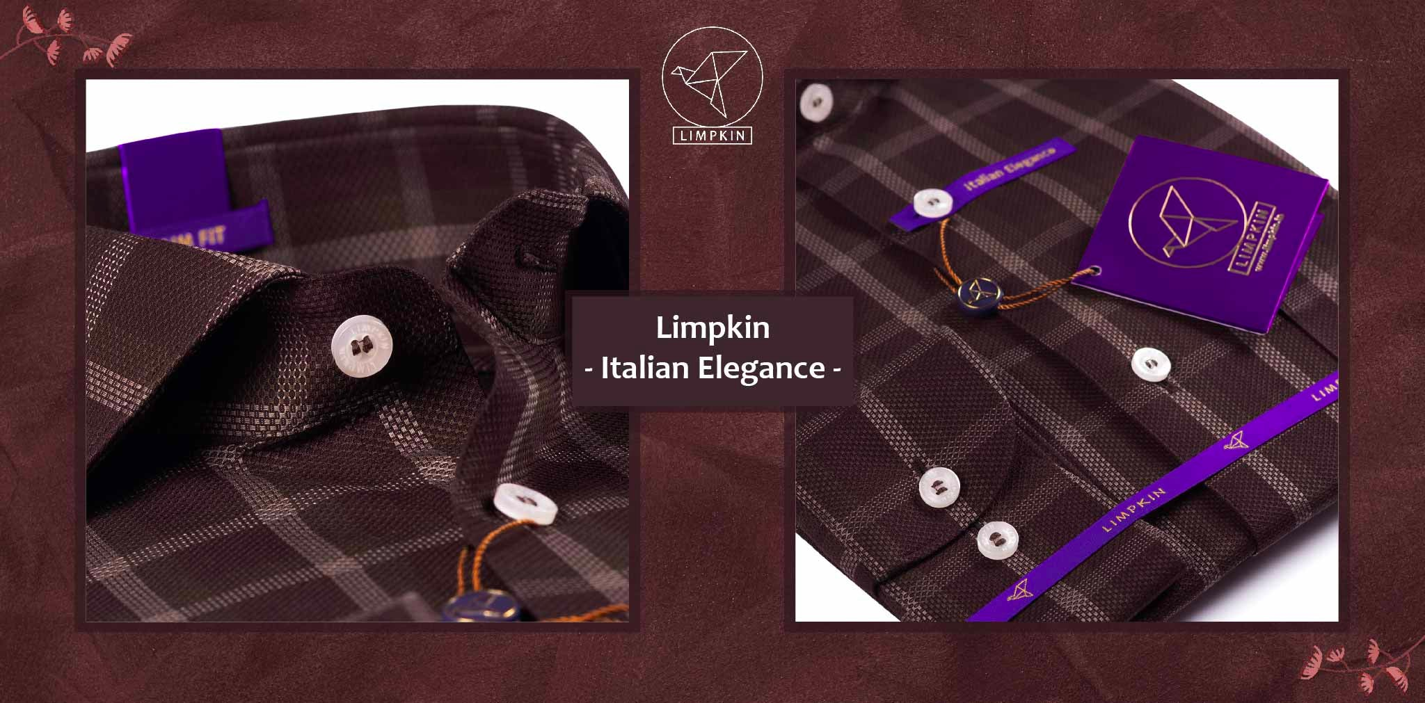 Elmira- Dark Brown & Beige Magical Check- 2 Ply Pure Egyptian Giza Cotton- Delivery from 26th Jan - Banner