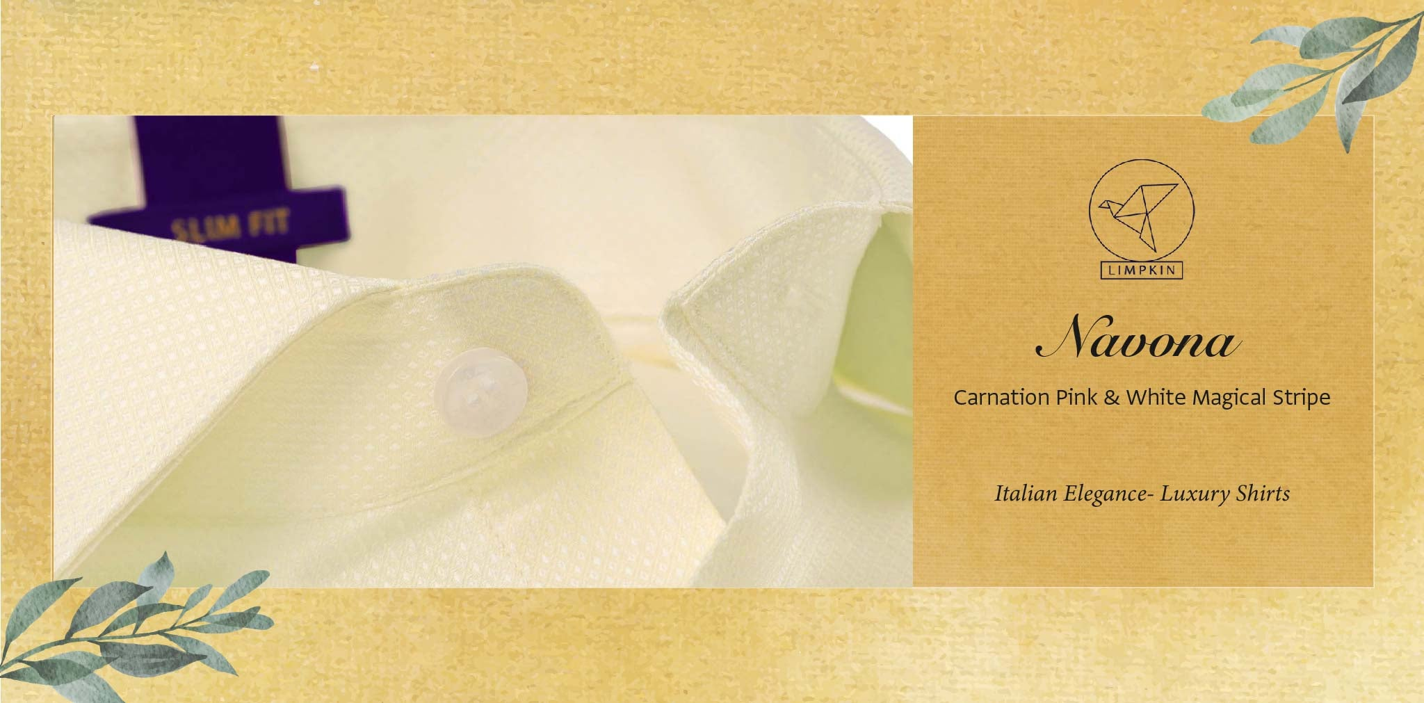 Navona- Cream Ceremonial Structure- 2 Ply Pure Egyptian Giza Cotton- Delivery from 26th Nov - Banner