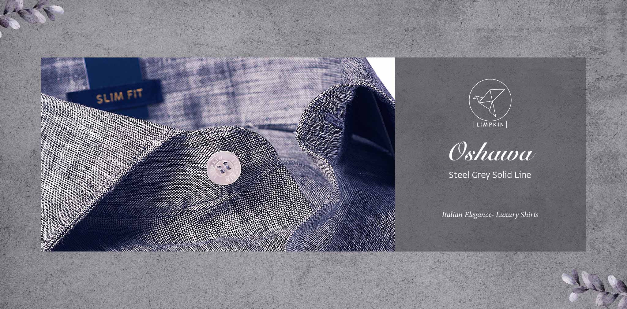 Oshawa- Steel Grey Solid Linen- 66's Lea Pure Italian Linen- Delivery from 17th May - Banner