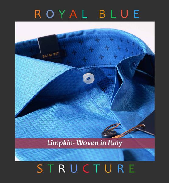 TRIPOLI- MAGICAL ROYAL BLUE STRUCTURE- WITH POCKET