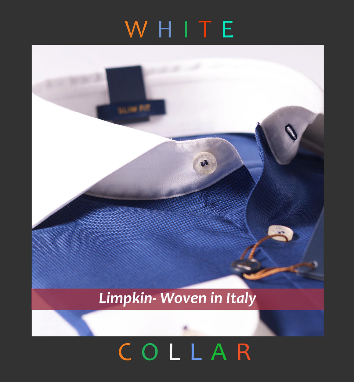 Delphi- Navy Micro Houndstooth & White Collar