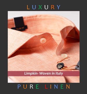 INTURIN- ORANGE PURE LINEN IN 60's LEA