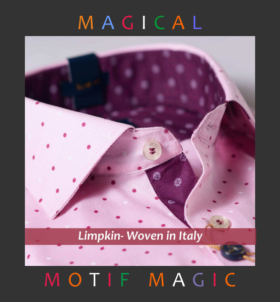 LISBON- PINK WITH MAGICAL POLKA PRINT- WITH POCKET