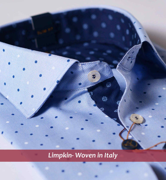 SEVILLE- BLUE WITH MAGICAL POLKA PRINT- WITH POCKET