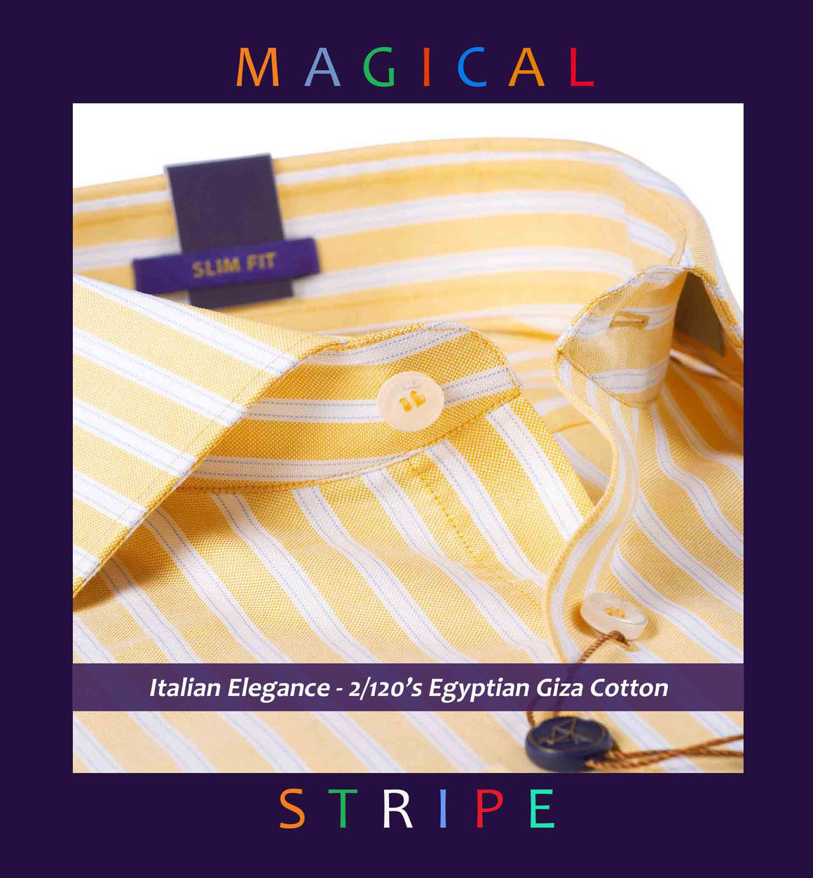 Sondrio - Canary Yellow Magical Stripe
