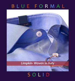 OXFORD- SOLID BLUE TWILL FORMAL SHIRT