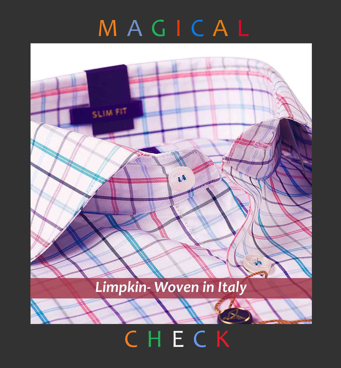 PORTLAND- MULTI COLOR MAGICAL CHECK- SLIM/REGULAR FIT