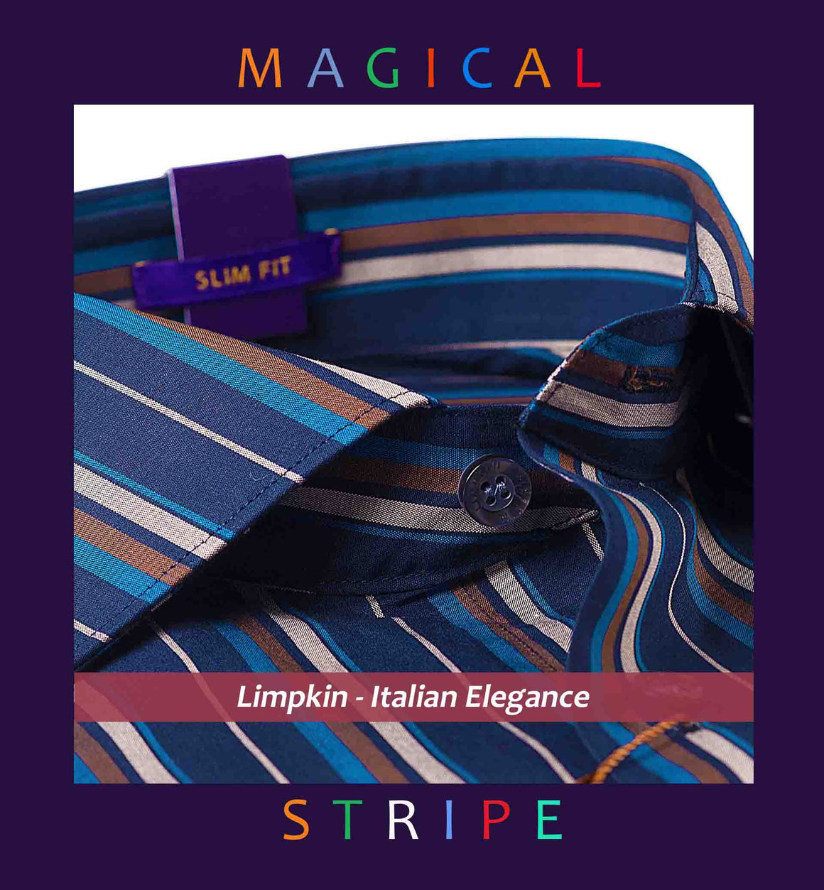OMAHA- DEEP NAVY & BEIGE MAGICAL STRIPE