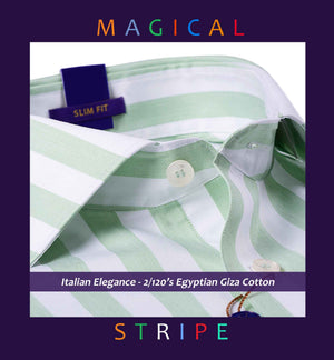 LORIENT- MINT GREEN MAGICAL STRIPE