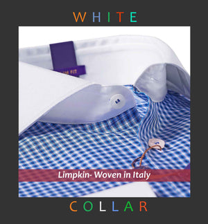 AUSTIN- BLUE GINGHAM CHECK & WHITE COLLAR