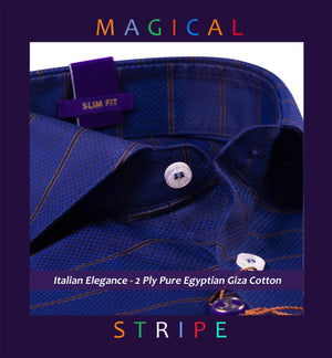 Vegas- Royal Blue & Black Horizontal Stripe