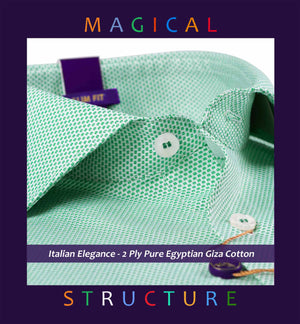 Logan- Emerald Green Magical Structure- 2 Ply Pure Egyptian Giza Cotton- Delivery from 19th April