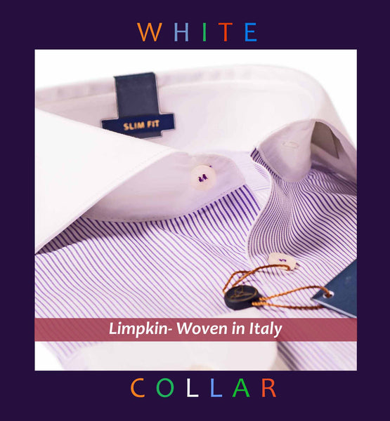 PARIS- LILAC STRIPE & WHITE COLLAR- SLIM/REGULAR FIT