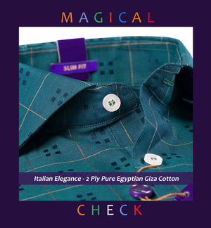 Marais- Teal Green & Beige Magical Check