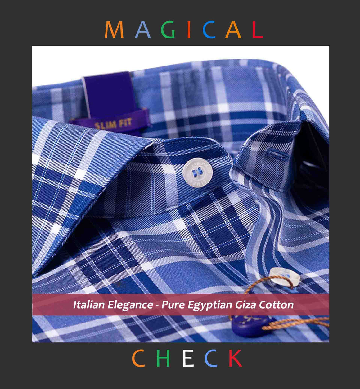 PERTH- NAVY & WHITE MAGICAL CHECK