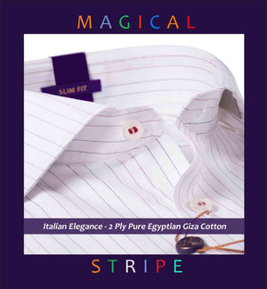 Brescia- Burgundy & Navy Magical Pin Stripe- 2 Ply Pure Egyptian Giza Cotton