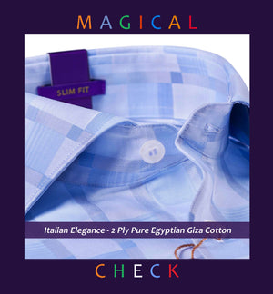 Reggio- Oxford Blue & Sky Blue Magical Check