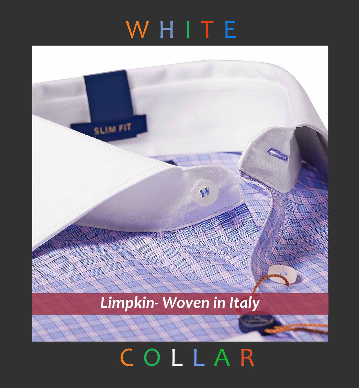 Madison- Blue Check & White Collar