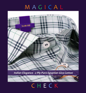 Stockport- Pewter Grey & Black Magical Check