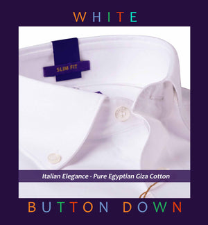 "CANBERRA- BEST FORMAL WHITE- ""BUTTON DOWN"""