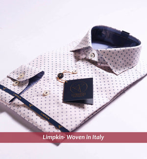 FLORAL NAVY PRINT ON PINK STRUCTURE - Limpkin Shirts Buy Online