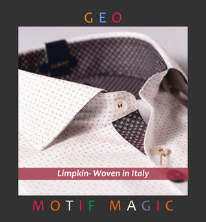 LYON- WHITE WITH MAGICAL GEO PRINT- WITH POCKET