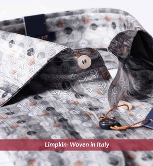 Printed Shirts - Grey | Designer Shirts - Limpkin