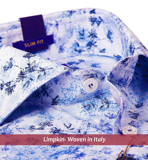 Warsaw- Navy & Sky Blue Magical Floral Print