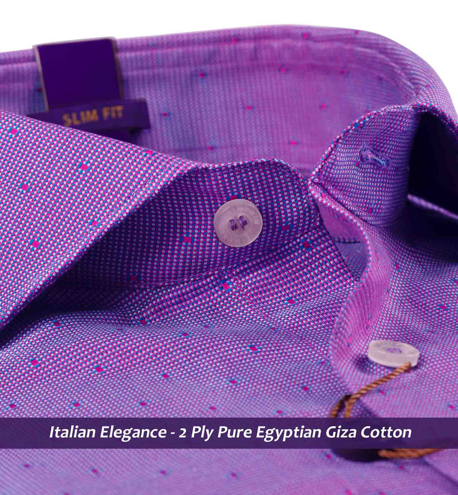 Arnhem- Violet & Burgundy Magical Structure- 2 Ply Pure Egyptian Giza Cotton- Delivery from 19th April