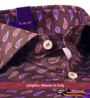 Antibes- Brown & Purple Magical Paisley Print