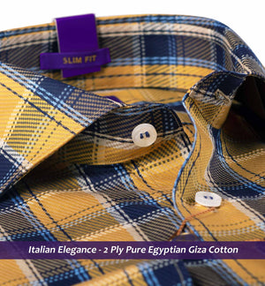 Montclair- Medallion Yellow & Navy Magical Check